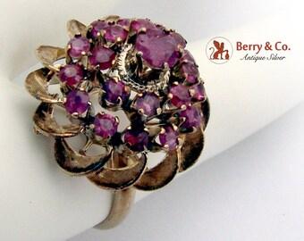 Estate Harem Princess Ring 10 K Gold Rubies