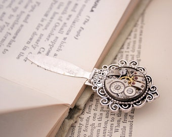Bookmark Gifts for Reader/ Steampunk Book Mark/ Watch Work Accessories/ Metal Bookmark with Watch Movement / miscellaneous