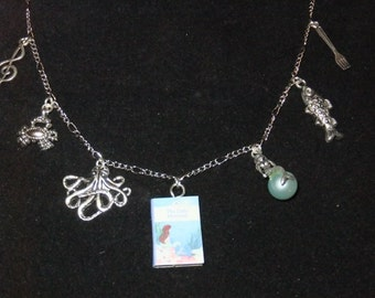 Little Mermaid Book Necklace
