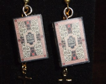 Bible Book Earrings - Great Gift for Book Lovers!