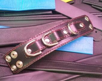 Bracelets Cuffs Black & Red Leather Restraint Bracelets with D Rings
