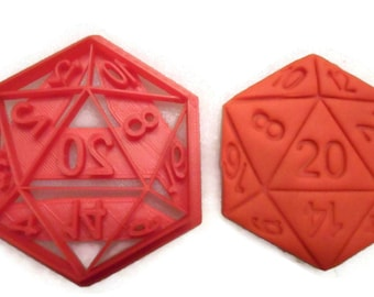 D20 Twenty Sided Dice cookie cutter