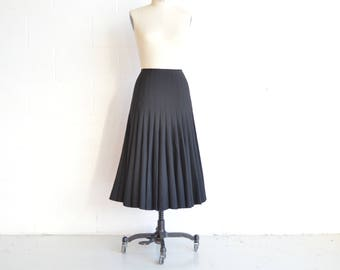 Junya Watanabe Pleated Black Skirt · Comme Des Garcons Pleated Skirt · Vintage Comme Des Garcon · Vintage Junya Watanabe · Black Midiskirt M