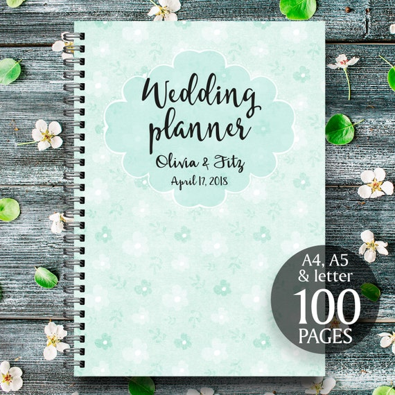 Mint wedding planner, Mint floral planner, Mint wedding checklist, Mint wedding organiser, Mint wedding binder, Printable wedding planner