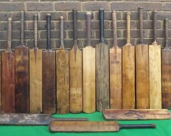 Vintage Cricket Bats  Genuine old English Willow Cricket Bats Take your Pick New Photo March 2017