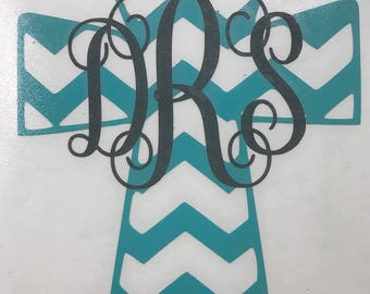 Monogram Cross Vinyl Decal