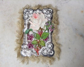 Antique Poem Card with Flowers Titled Love's Hope  Poem