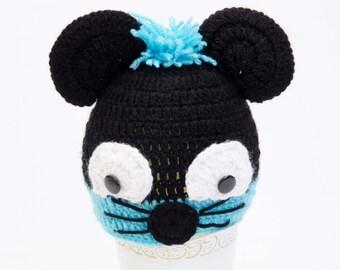 Crochet mouse Baby Hat, Toddler hat ,children hat ,Newborn hat ,toddler crochet hat ,baby hat