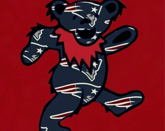 Grateful dead new Englad patriots dancing bear shirt
