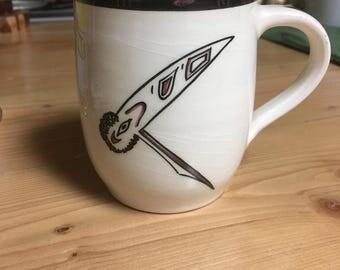 Lambert Potteries Ltd. Raven Mug