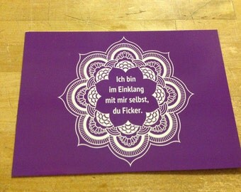 Fucker - postcard, purple
