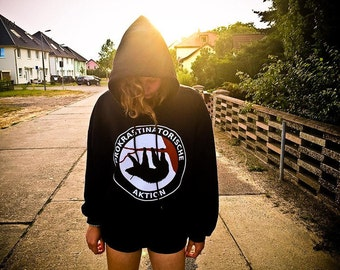 Prokrastinatorische action-hoodie, hooded sweatshirt