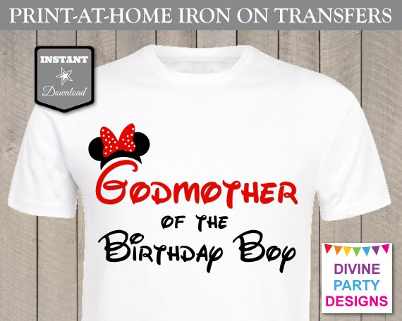 Instant download print at home mouse godmother of the for Instant t shirt printing