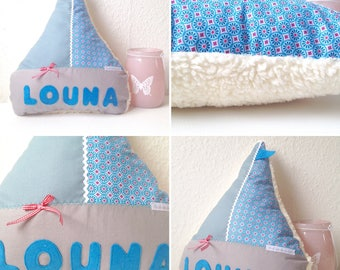 Name cushions, sail boat cushion