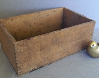 Early 1900s Wood Box - Industrial Wood Box - Dovetailed Wood Box - Handmade Industrial Wood Box