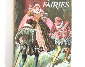 Vintage Rudyard Kipling Book Rewards and Fairies Dueling Romantic Court Knights Princes Queens 1960 Macmillan