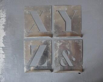 Vintage alphabet stencils