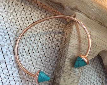 Rose Gold and Turquoise Bangle. New.