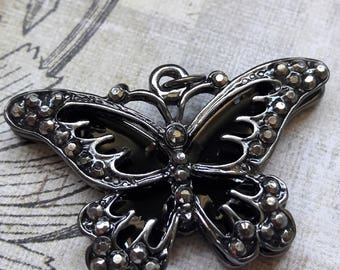Marcasite Butterfly Pendant Jewelry Making Supplies