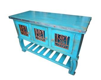 "Coronado 48"" Rustic Bathroom Vanity  Vintage Turquoise"