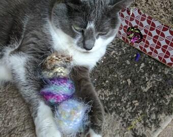 Jingle Ball Cat Toys, Soft Cat Toys, Bell Cat Toys, Soft Cat Toys, Valerian, Silver Vine, Kitten Toys, Kitten Play, Knit Cat Toys