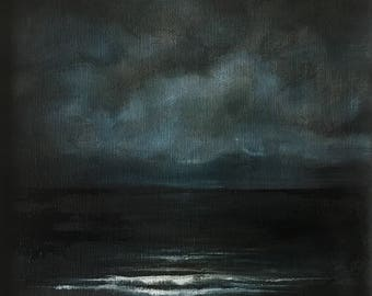 Breathe ii - Original oil on canvas seascape painting by Sam Lyle