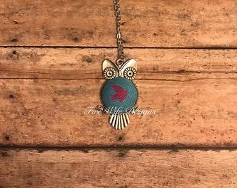Owl Pendant Wrap Scrap Necklace- Kokadi Erna in Wonderland