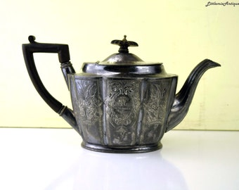 Don't Buy! Reserved to Joven! Antique Deykin&Sons England Silver Plated Teapot Signed 'Presented to ?on the occasion of his Marriage