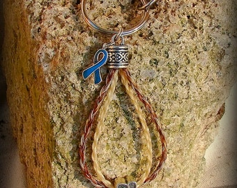 "Support Ovarian Cancer With A Limited ""John REIN"" Double Strand Horsehair Key Chain"