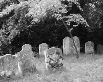 B&W Photography, Cemetery Art, Graveyard, Cemetery Photography, Halloween Decor, Macabre Art, Gothic Art, Black and White Decor, Cemeteries