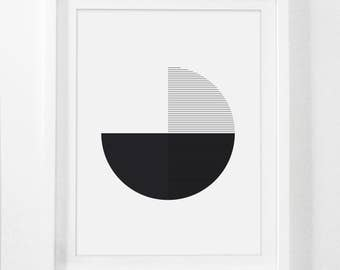 Digital Geometric Art, Minimalist Download Artwork, Black and White Geometric Art Prints, Modern Wall Decor, Line Drawing Prints, Art Decor