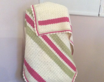 Colorful crochted baby blanket