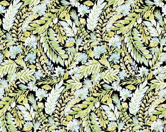 Dena Designs fabric Chinoiserie Chic DF201 Jia white blue green black floral home decor Freespirit fabric Cotton Sew Quilt by the yard