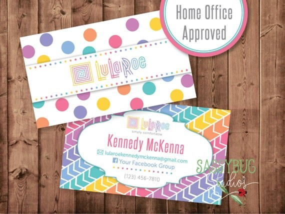 Lularoe business cards personalized 35 x 2 by sassybugstudios for Lularoe name cards