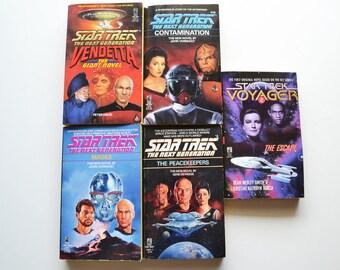 Five Vintage 1980's & 1990's Star Trek Novels