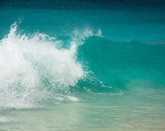Waves at Mullet Bay Beach, St. Maarten, St Martin, Caribbean art, tropical decor, nautical decor, caribbean print, ocean decor, photography