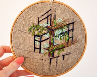 Shanghai Hotel - Embroidered hoop for home decoration