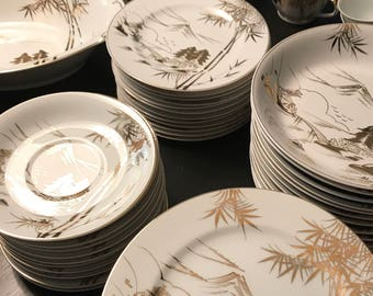 Wonderful 12 pc place setting Kutani china ON SALE!