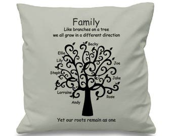 "Family Tree - Cushion/pillow Cover - 16""x16"" (41cmx41cm)"
