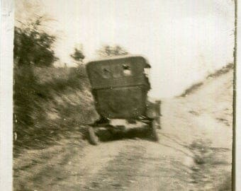 Vintage Photo..Going Down a Bumpy Road, 1910's Original Found Photo, Vernacular Photography, Paper Snapshot
