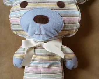 Cute Stuffed Teddy Bear Toy / Blue /Handmade