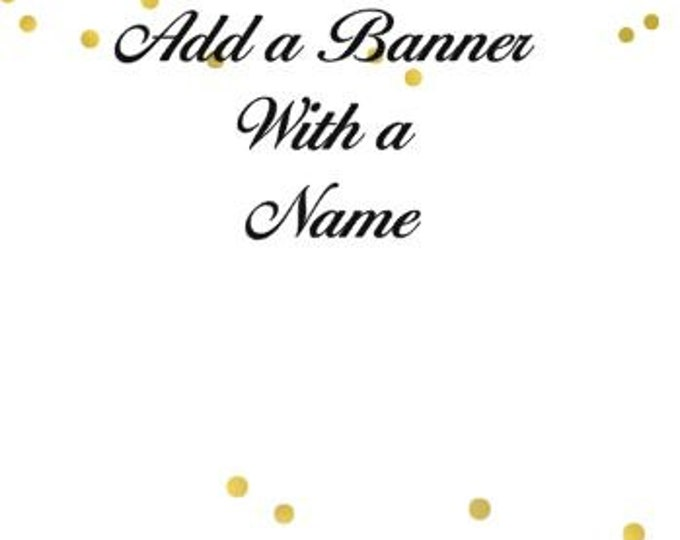 Additional Banner String with a Name, Party Banners, Personalized Party Banner. 1.75 for each letter