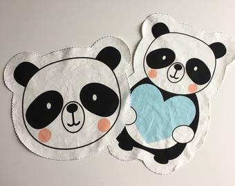 Fluffy panda nursery pillow JUST PREORDER Malu