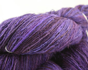 NEW***Handspun Recycled Mulberry Silk - Magenta