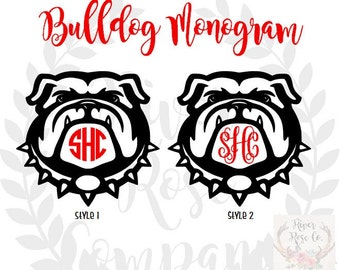 Georgia Bulldogs Monogram Decal | Georgia Bulldogs Yeti | Georgia Bulldog Car Decal | UGA decal | Georgia Bulldogs
