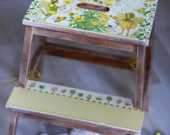 wooden step stool from Ikea, kitchen step stool, two step stool, wooden step stool, stepping stool