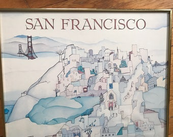 Vintage San Francisco Travel Poster by Marilyn Bereson