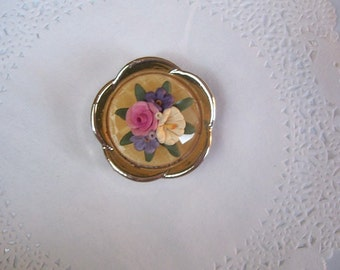 Flower Magnet (719) - Flower Refrigerator magnet - flower jewelry - jeweled magnet - repurposed jewelry