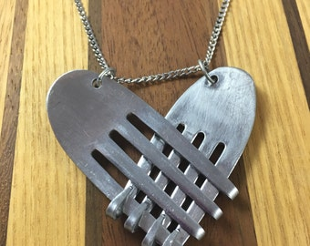 Melded Heart Fork Necklace