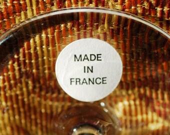 "Perrier Jouet France 2 Pc Set Floral Hand Painted 7-1/2"" Champagne Flutes"